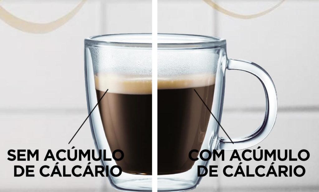 cafe com acumulo de calcario