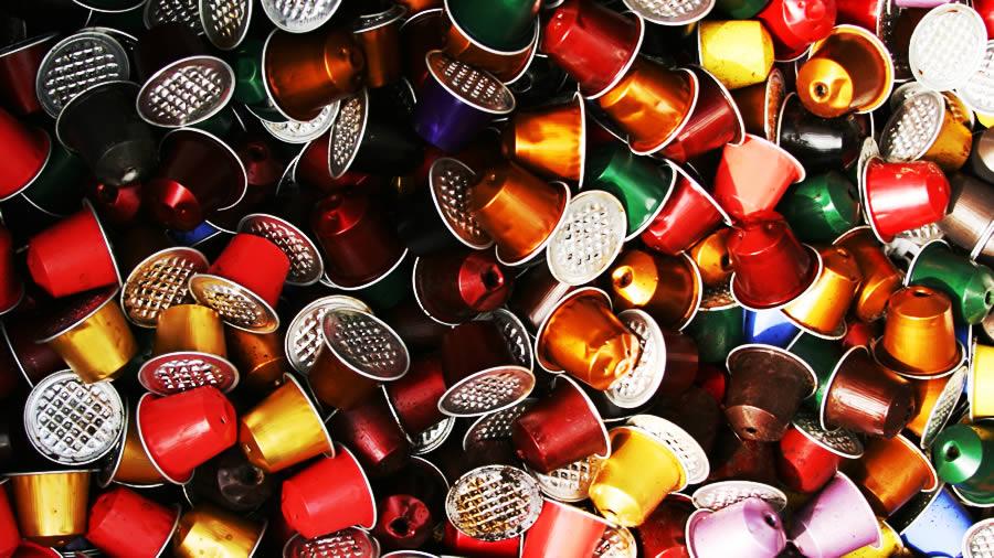 cápsulas de café usadas